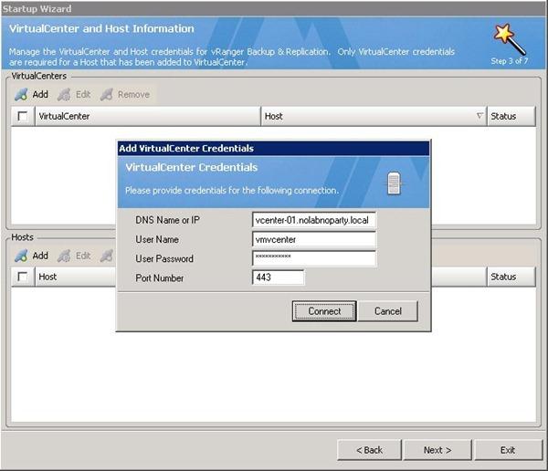 Installare Vranger Backup Per Vmware 1 176 Parte Nolabnoparty