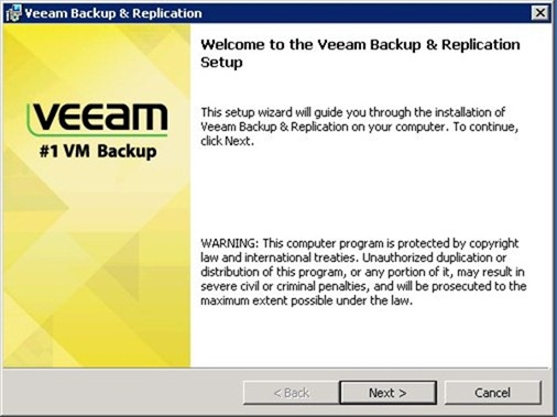 Installare Veeam Backup & Replication 6.5 per VMware