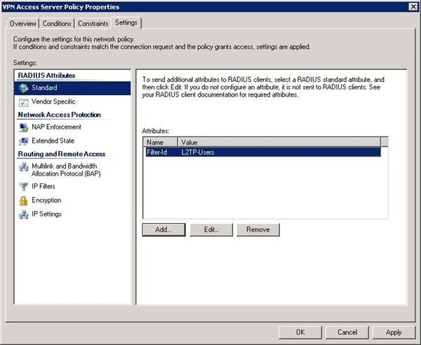 Setup NPS for RADIUS authentication in Active Directory