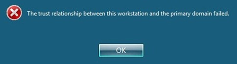 the trust relationship between this workstation and primary domain failed server 2008 r2