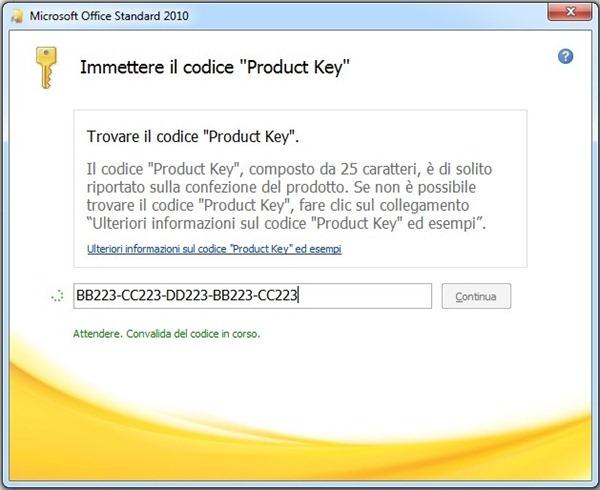 microsoft office 2010 no product key