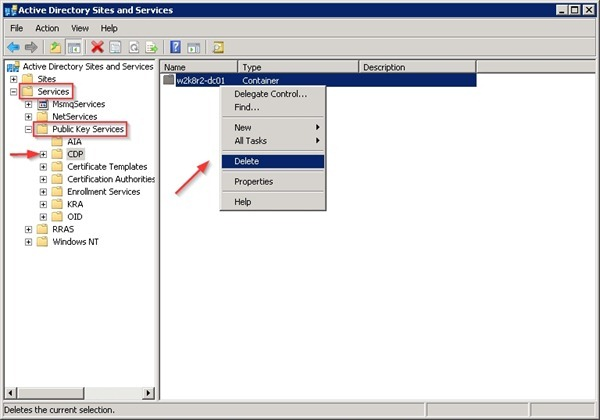 Remove ca from active directory nolabnoparty decommissionca26 yelopaper Images