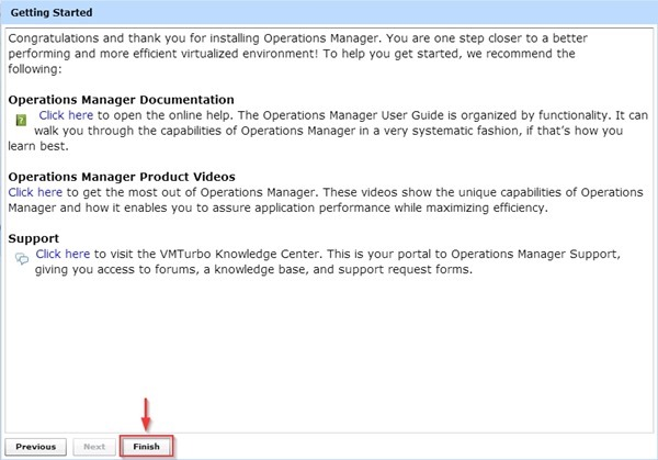 VMTurbo Operations Manager Lite Deployment