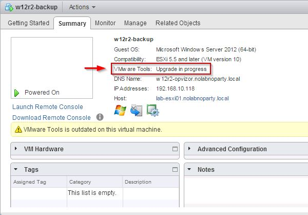 VMware Tools 10 deployment with VUM • Nolabnoparty
