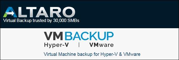 Altaro VM Backup 1