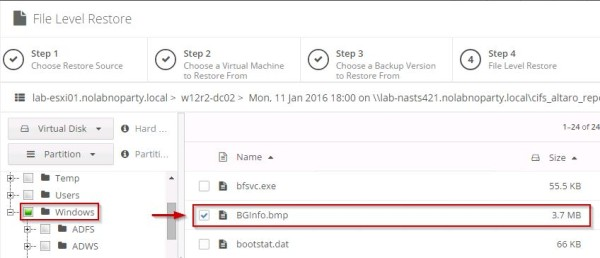 Altaro VM Backup 6 1 restore and verification - pt 4