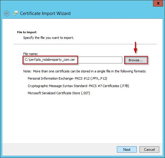 AD FS 3 0: replace SSL certificate • Nolabnoparty