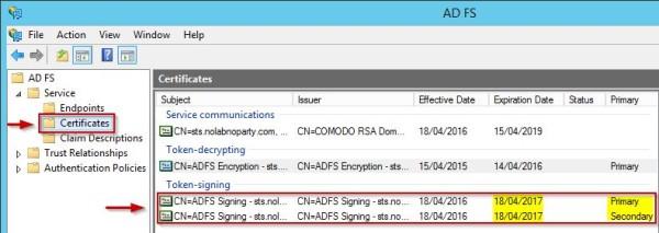 AD FS 3 0: replace SSL certificate • Nolabnoparty