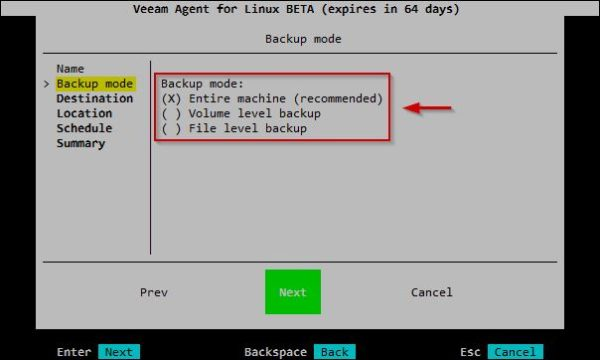 Veeam Agent for Linux setup • Nolabnoparty