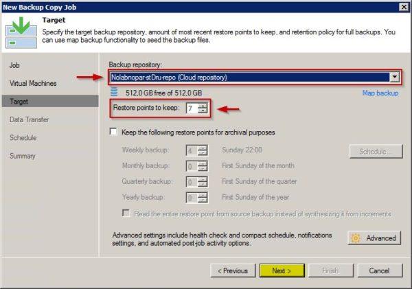 Veeam Cloud Connect configurazione backup