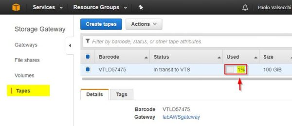 Veeam VTL to AWS 1