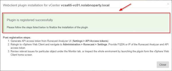 Runecast vCenter plugin 1