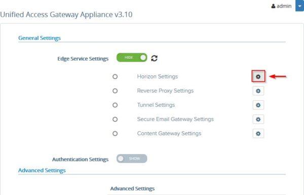 Unified Access Gateway 16